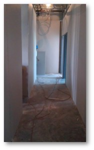 Tampa Commercial painting | Hallway Before