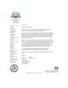 Hillel Recommendation letter